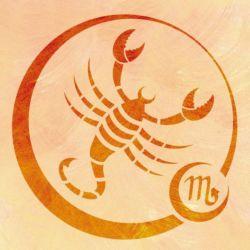 Wandschablone Tierkreiszeichen Skorpion
