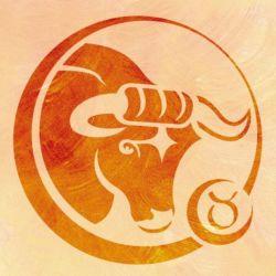Wandschablone Tierkreiszeichen Stier