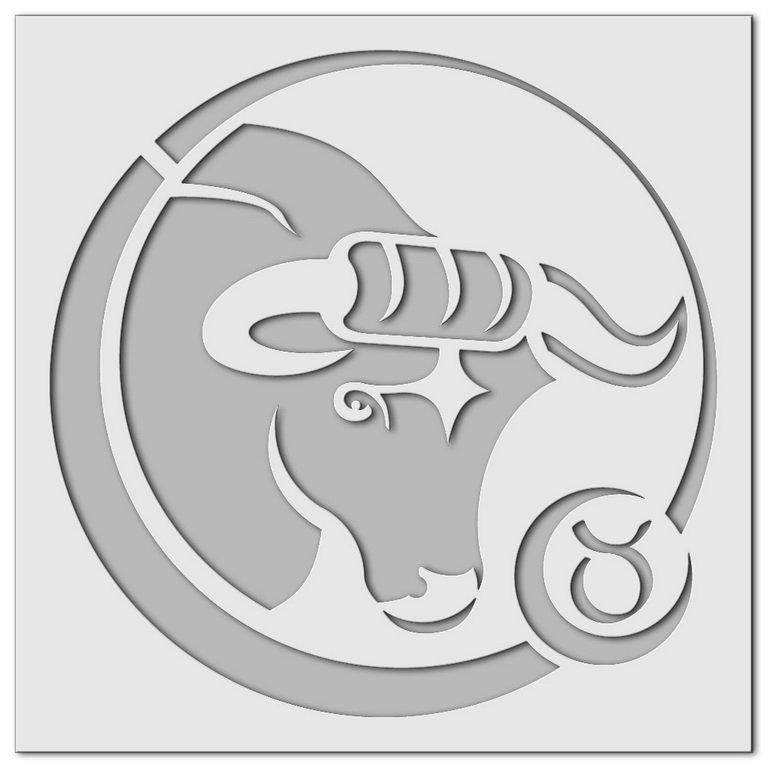 Wandschablone Stier