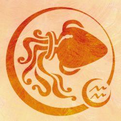 Wandschablone Tierkreiszeichen Wassermann
