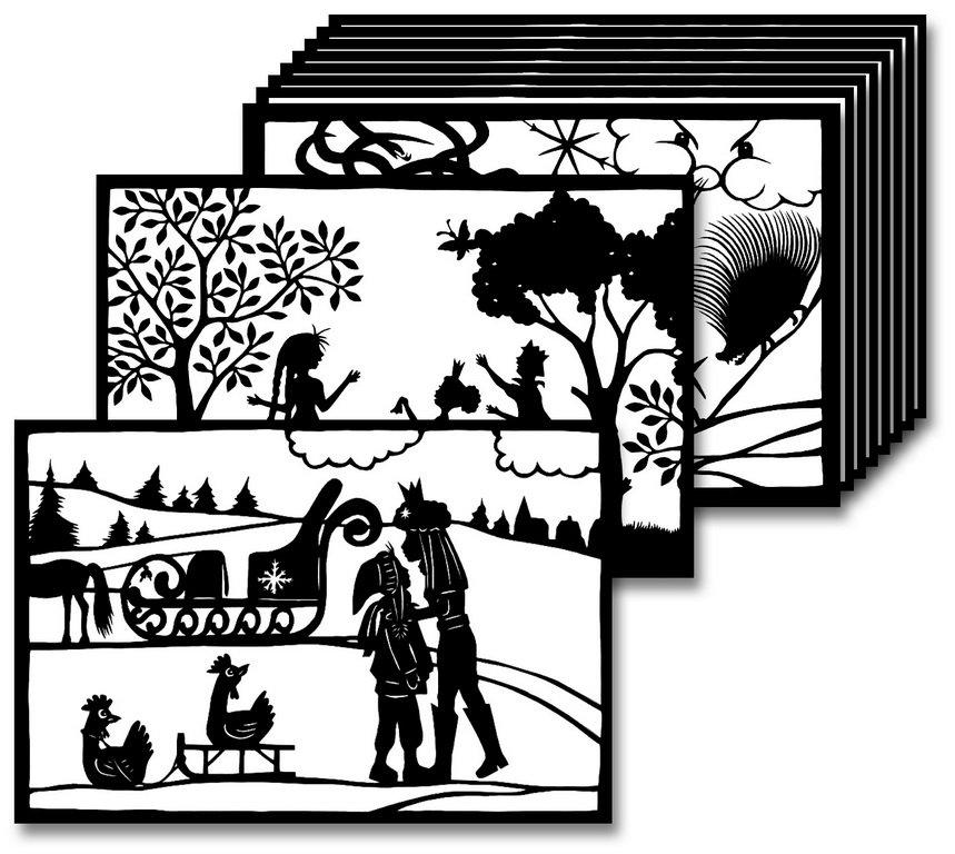 Wandschablonen Set Die Schneekönigin