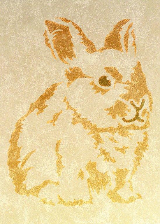 Wandschablone Kinderzimmer Kaninchen