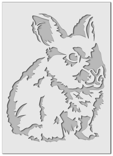 Wandschablone Kaninchen