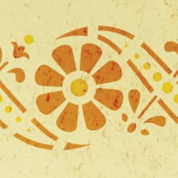 Wandschablone floral Blumenranke 3