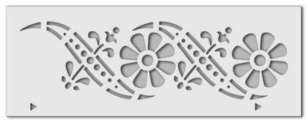 Wandschablone Blumenranke 3