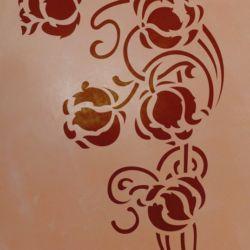 Wandschablone floral Ecke 1