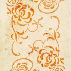 Wandschablone floral Ecke 2