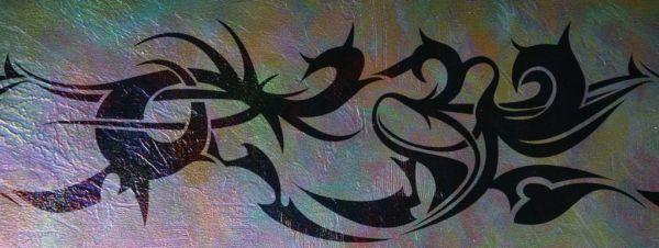 Wanschablone Tattoo Tribal7