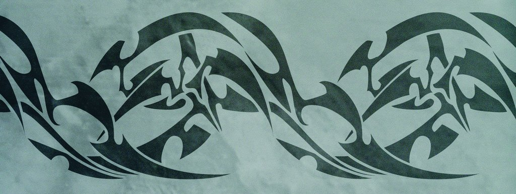 Wanschablone Tattoo Tribal12