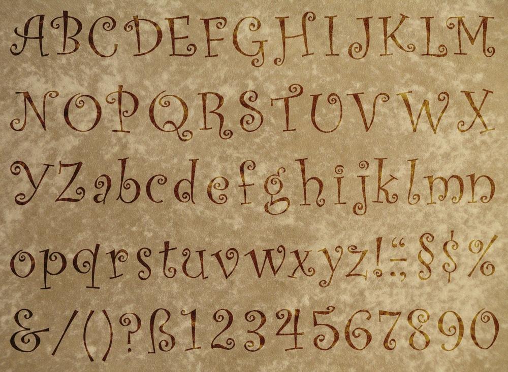 Wandschablone Special Alphabet 3