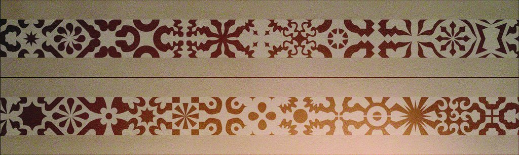 Wandschablone Kultur Ornaments 1 passend zur Nr. 0347, Ornaments 2