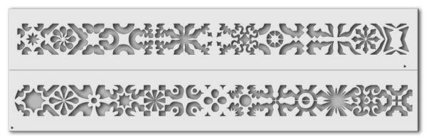 Wandschablone Ornaments 1 passend zur Nr. 0347, Ornaments 2
