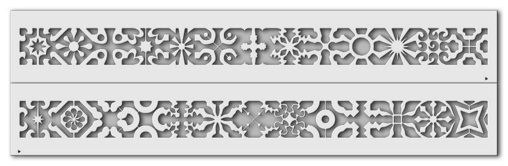 Wandschablone Ornaments 2 passend zur Nr. 0346, Ornaments 1