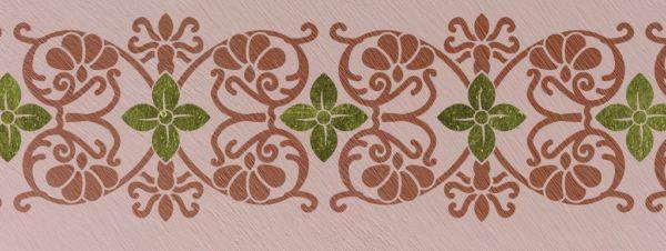 Wandschablone floral Blume von Jericho
