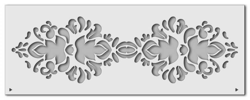 Wandschablone Blattwerk