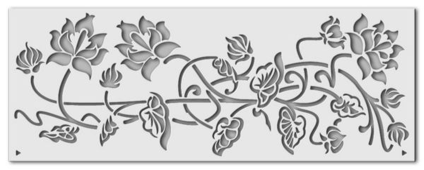 Wandschablone Kranich 2 (Bordüre passend zu Kranich 1, 0364)