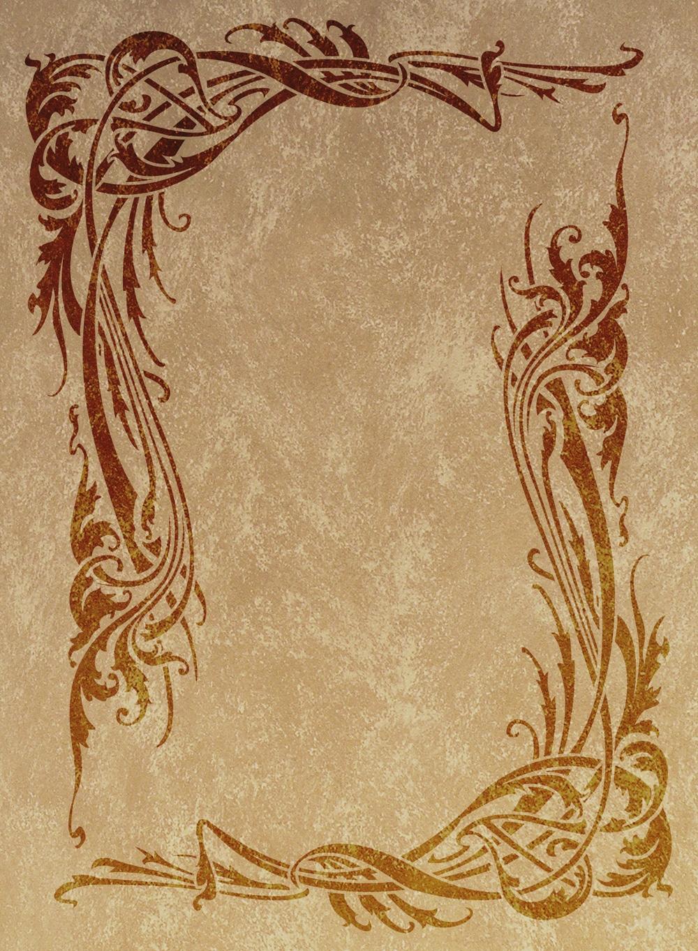Wandschablone floral Verschlungen