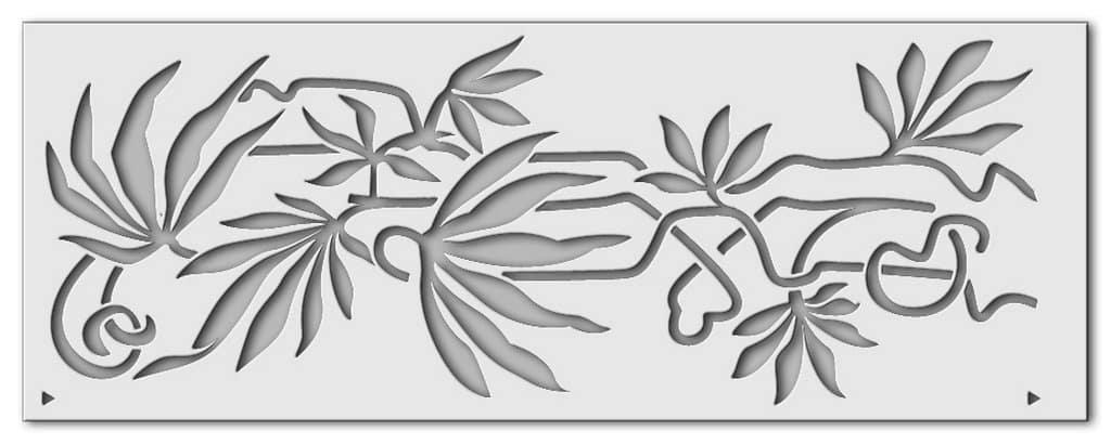 Wandschablone Palmenzweig