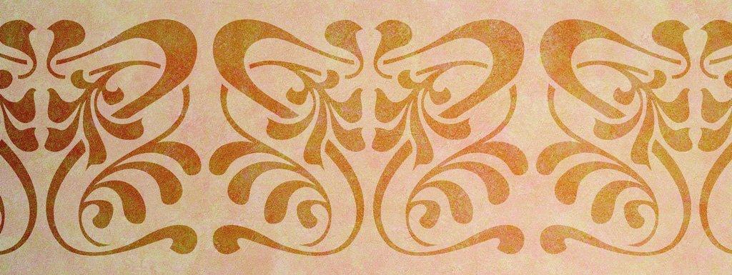 Wandschablone floral Jugendstil 2