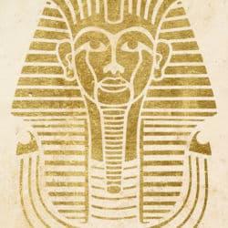 Wandschablone Kultur Tut Ench Amun