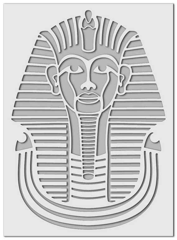 Wandschablone Tut Ench Amun