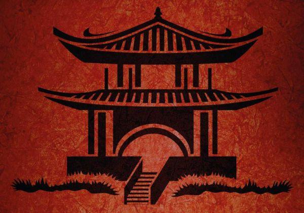 Wandschablone Asiatische Motive Japanhaus