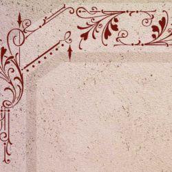 Wandschablone floral Treppauf