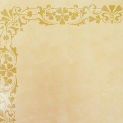 Wandschablone floral Kleeblätter-Rahmen
