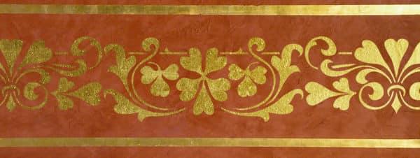 Wandschablone floral Kleeblätter