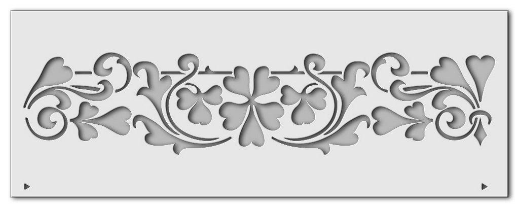 Wandschablone Kleeblätter