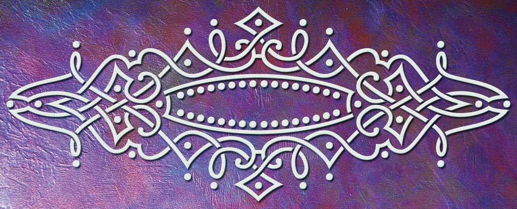 Wandschablone Kultur Sultanine