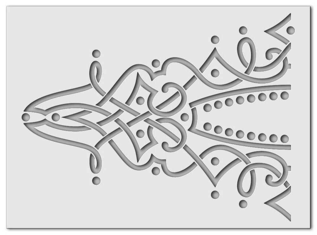 Wandschablone Sultanine