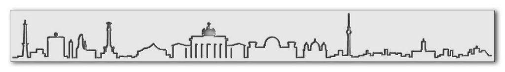 Wandschablone Klebe Skyline Berlin