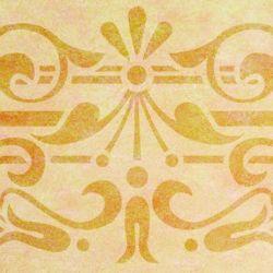 Wandschablone Fächermuster floral