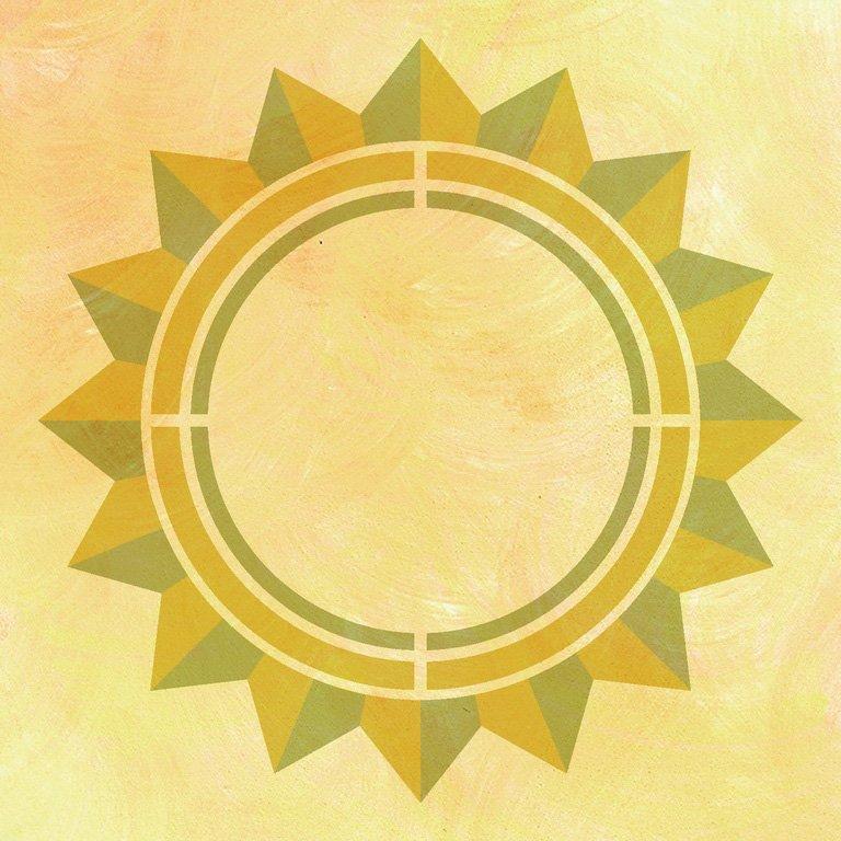 Wandschablone Sonnenstern Kultur