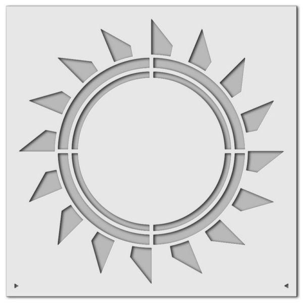 Wandschablone Sonnenstern