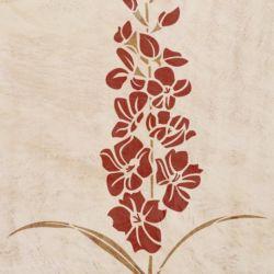 Wandschablone Gladiolen floral