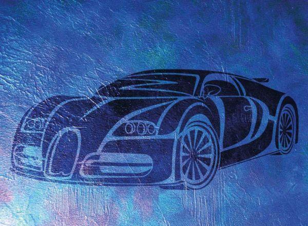 Wandschablone Bugatti Special