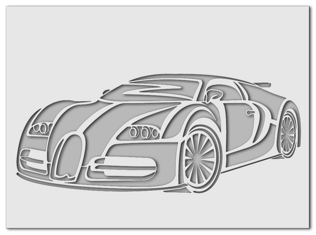 Wandschablone Bugatti