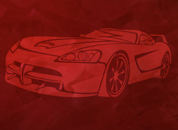 Wandschablone Dodge Viper Special
