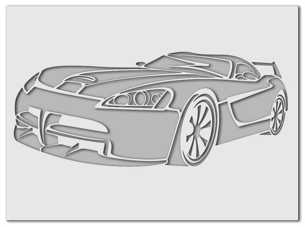 Wandschablone Dodge Viper