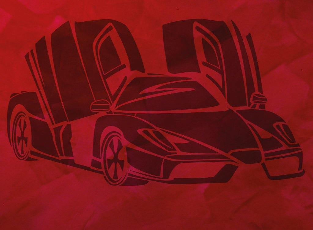 Wandschablone Enzo Ferrari Special