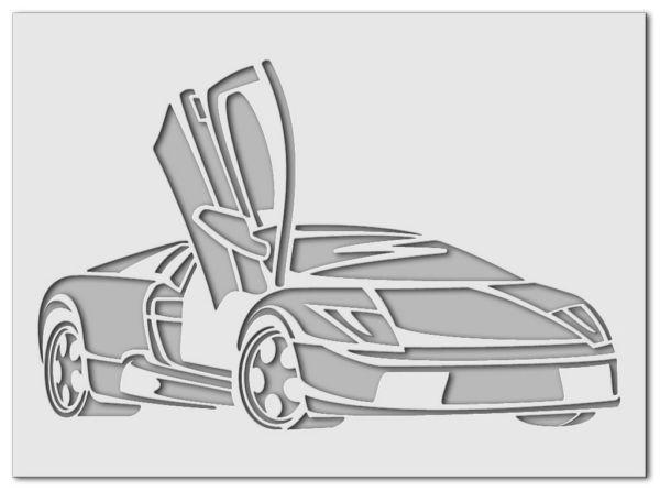 Wandschablone Lamborghini