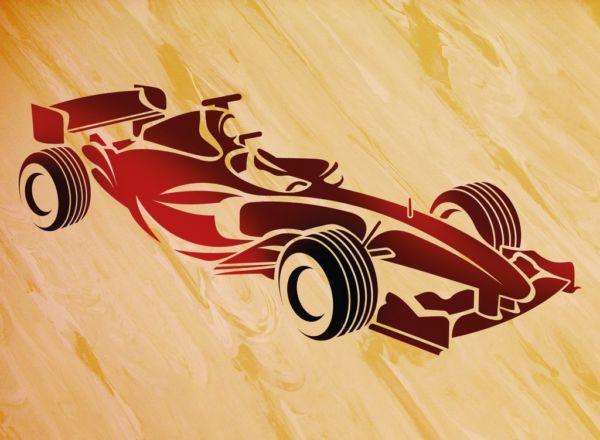 Wandschablone Formel 1 Seite Special