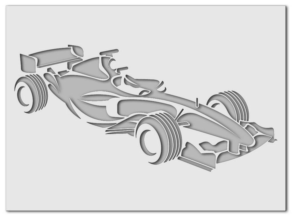 Wandschablone Formel 1 Seite