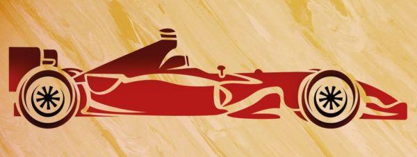 Wandschablone Formel 1, Rennwagen