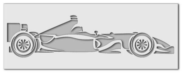Wandschablone Formel 1, Rennwagen Special