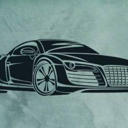 Wandschablone Audi R8 Special