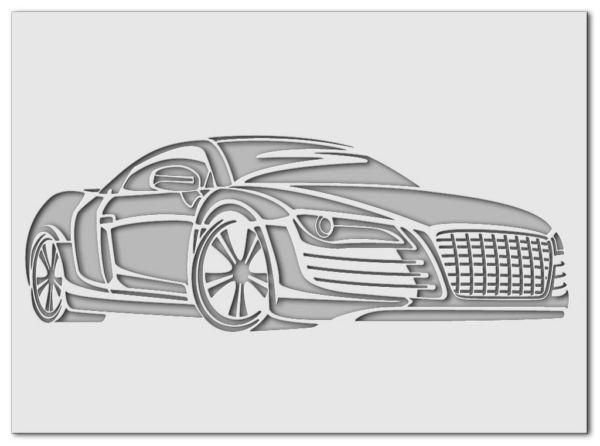 Wandschablone Audi R8
