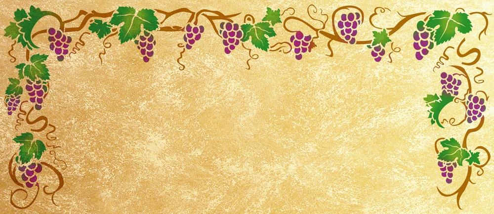 Wandschablone Weinranke 2 floral Weinrebe